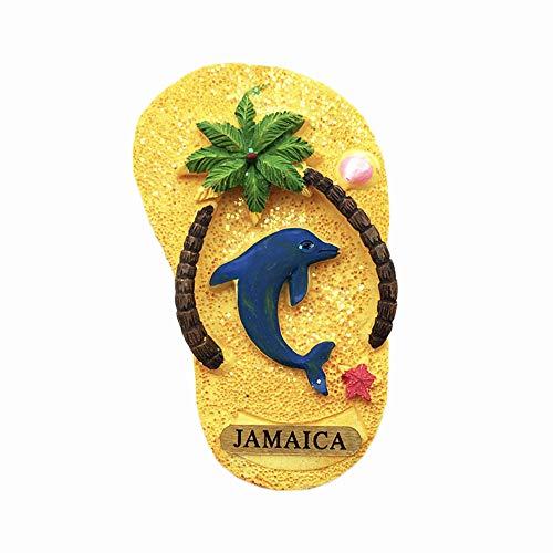 Jamaica 3D-Flip-Flop-Kühlschrankmagnet, Kunstharz, Reise-Souvenirs, handgefertigt, Dekoration für Zuhause und Küche, Jamaika, Kühlschrankmagnet, Sammlung, Geschenk
