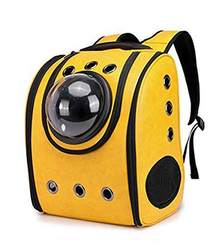 GUOGUODA Mochila Transpirable Cápsula Mascotas Mochila con Burbujas,Bolsa de Transporte ventilada portátil para Perros pequeños Transparente Impermeable al Aire Libre,diseño de cápsula Transpirable
