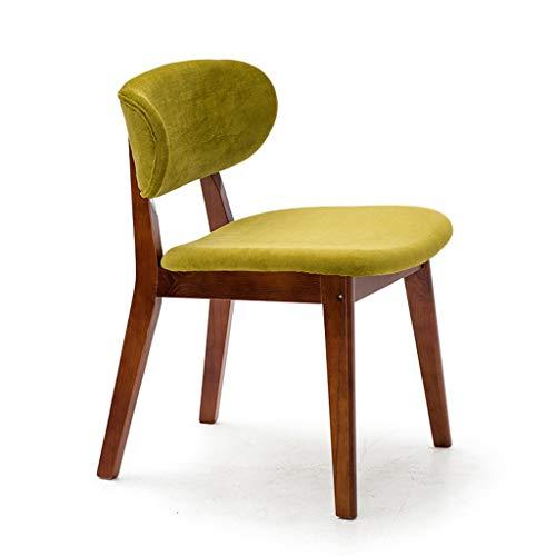 LiaoMu massief houten stoel kruk Nordic Café Negotiation stoel restaurant eettafel stoel huis rugstoel massief houten stoel frame rood eiken geel groen flanel