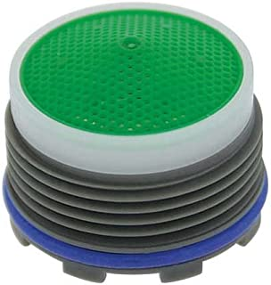 Neoperl 13 0070 2 Economy Flow Cache Perlator HC Aerator, Tiny Junior Size, 1.5 GPM, Green Dome, Honeycomb Screen, Aerated Stream, M18.5 x 1 Threads, Plastic, 0.553