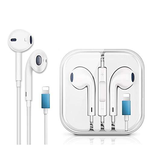 Auricolari per iPhone bluetooth in-Ear Cuffie con filo cablato Forniscono controllo del volume e del microfono compatibile con iPhone 11/11 Pro/XS/XS Max/X/XR/8/8 Plus/7/7 Plus per Tutti i IOS