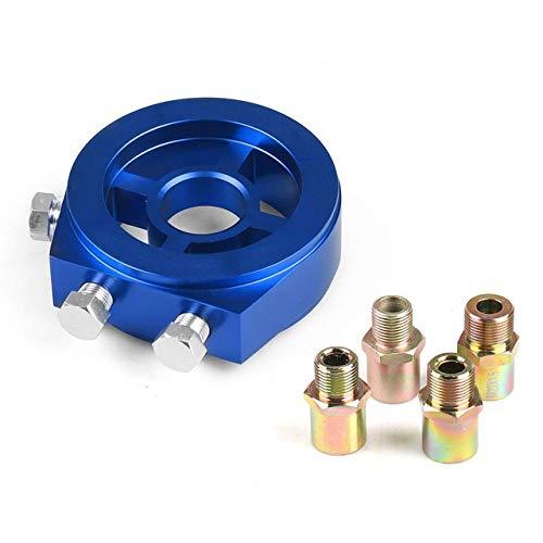 NO-LOGO XFC-Kong, Universal-Ölfilter Cooler Sandwich-Platten-Adapter Ölpresse Temp Sensor-Adapter mit Stecker M18 * 1.5 M20 * 1.5 M22 * 1,5 3/4-16 (Farbe : Blue)