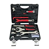 Caja de herramientas para bicicletas, kit de reparación de bicicletas, accesorios de la caja de herramientas, herramienta de reparación profesional 18 en 1, adecuada para bicicletas de montaña