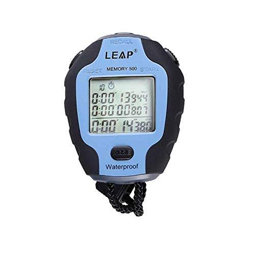 HENGXIANG Stopwatch, Smart Stopwatch Timer, Waterdichte Instructor Hardlooptafel APP Bluetooth Blauw/Geel