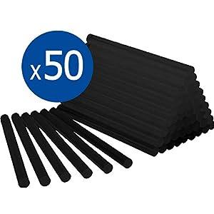 BOLSA 1 KG de COLA TERMOFUSIBLE NEGRA - 50 BARRAS de silicona para pistola caliente 11 x 200 MM - Para coche PROFESIONAL RZ TOOLS