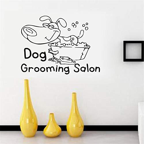 Geiqianjiumai Creatieve hond verzorgen verwijderbare muur huisdecoratie muurschildering kunst behang cartoon muur stickers