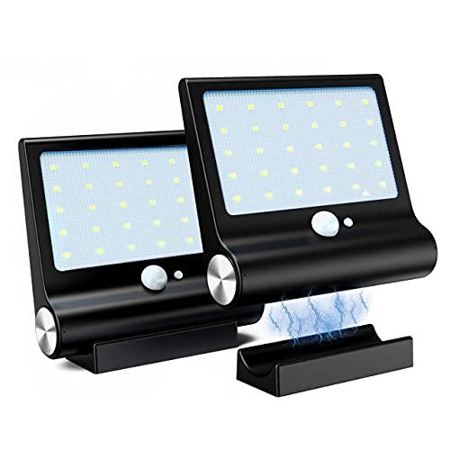 Luz Solar Exterior, M-T-K Lluminación Solar [Versión Desmontable Magnética] Foco Solar Potente con Sensor de Movimiento y...