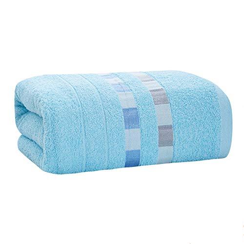 ZXF Toalla de baño para adultos, 100% algodón, 70 x 140 cm, color sólido, color verde