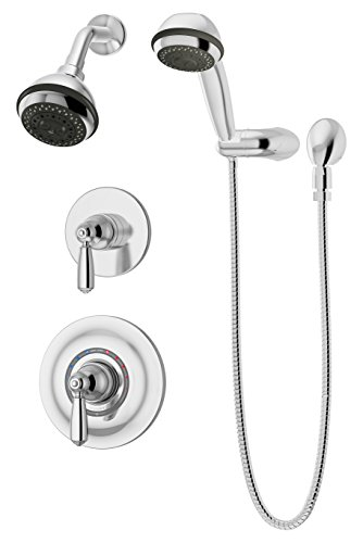 Symmons 4705-1.5-TRM Allura 2-Handle 3-Spray Shower Trim with 3-Spray Hand Shower in Polished Chrome (Valves Not Included)