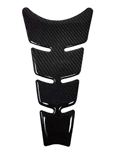Quattroerre Protection Réservoir Adhésive 3D pour Motos Slim, Fibre de Carbone, 20,5 x 11,5 cm