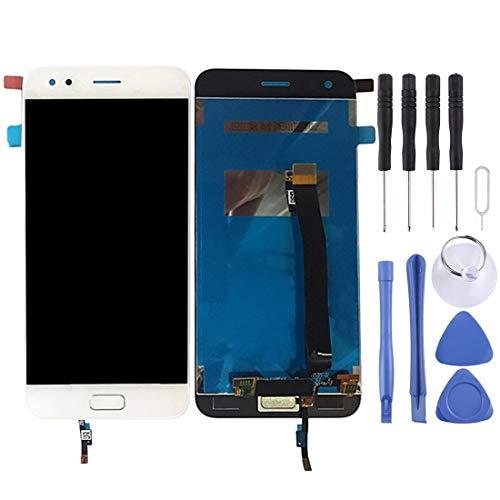 Mingxian Pantalla LCD y digitalizador Asamblea Completa con el botón Inicio for ASUS ZenFone 4 / ZE554KL (Negro) (Color : White)