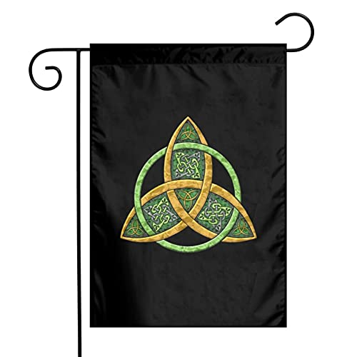 Celtic Trinity Knot Garden Flag 12x18 Double Sided for Outside Yard Outdoor Decoration