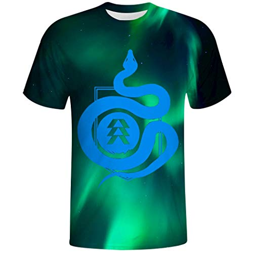 3D Hunter Symbol Casual Short Sleeve T Shirt for Adult Boys Tee White