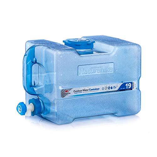 Zebroau - Contenedor de Agua para Coche, 19 L, portátil, con Grifo, se Puede llenar con Agua hirviendo para Camping, Senderismo, Caza, autoconducción
