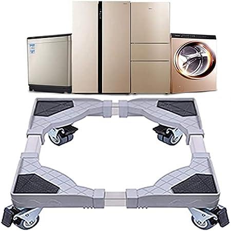 DEWEL Base de Machine à Laver Réglable 45cm-58cm Support Charge 300 kg Réduction du Bruit Effet Avec pour Réfrigérateur / Machine à Laver / Sèche-linge