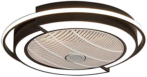 Ventilador De Techo LED Con Lámpara, Control Remoto Regulable Moderno Ventilador Invisible Techo Techo Ventilador De Techo Ultra-silencioso Con Iluminación Comedor Dormitorio Lámpara De Techo Con 50 C