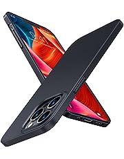 TORRAS 極薄 iPhone 13 Pro 用ケース 6.1インチ マット質感 超軽量 ガラスフィルム付属 PC素材 さらさら 指紋防止 擦り傷防止 アイフォン 13 Pro用 カバー 2021 ブラック Wisdom Series