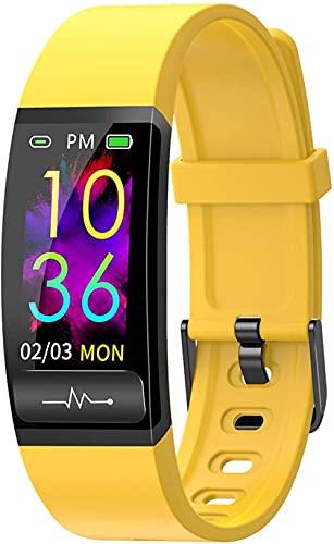 AMBM Pulsera de pulsera para Blackview BV6300 Pro BV6900 BV9600E BV9900 Pro BV5500 Plus BV9800 A80 Smart Watch Reloj de pulsera para teléfono (color: rojo)-amarillo