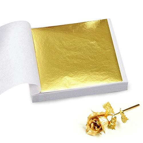 100 Páginas 24 K Hoja de Oro Arte Arte Diseño Marco Dorado Materiales Decorativos (artesanías, no comestibles)