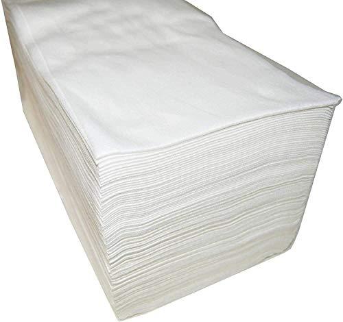 Cris nails - 100 unidad de toallas desechables para peluquería estética 40x80 cm toallas secas de papel absorbente blanco (40 * 80 cm)