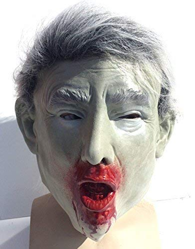 De Rubber Plantation TM 619219292191 Donald Trump Zombie Masker Presidentiële Halloween Kostuum, Unisex-Volwassene, One Size