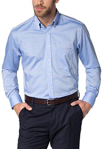 eterna Langarm Hemd MODERN FIT Pinpoint, Farbe: Mittelblau, Size 41