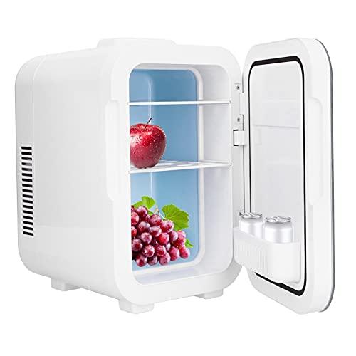 Mini refrigerador de 8 litros, refrigerador personal multifuncional y calentador, refrigerador compacto portátil para el cuidado de la piel, cosméticos, alimentos, medicamentos, dormitorio, oficina, a
