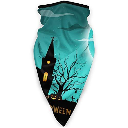 BEHDIJ Pasamontañas Máscara de deportes a prueba de viento, bufanda para mujeres y hombres, al aire libre, cómodo y transpirable, cuello con cinta para la cabeza, bufanda, azul psicodélico, luna llena