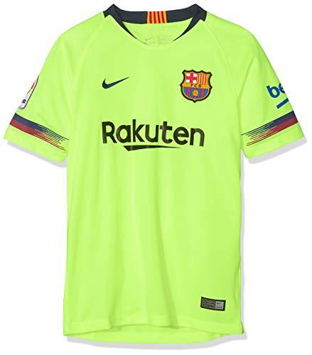 Nike 2018-2019 Youth FC Barcelona Away Stadium Jersey (Volt) (YL)