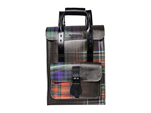 Dr. Martens Tartan Clash Leather Backpack AC806101; Unisex backpack; AC806101; black; One size EU ( UK)
