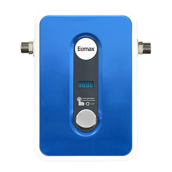 Eemax eem24013 electric tankless water heater, blue 1 tank less water heaters provide a continuous supply of hot water and only heats the water you need, when you need it instant, consistent and endless hot water the most advanced, self-modulating technology available, meaning the unit will adjust how much energy needs to be input based on how much hot water is needed