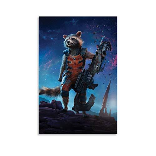 Guardians of the Galaxy Gamora Rakete Waschbär Wanddekoration Gemälde Galerie Leinwand Wandkunst für Wohnzimmer fertig zum Aufhängen 60 x 90 cm