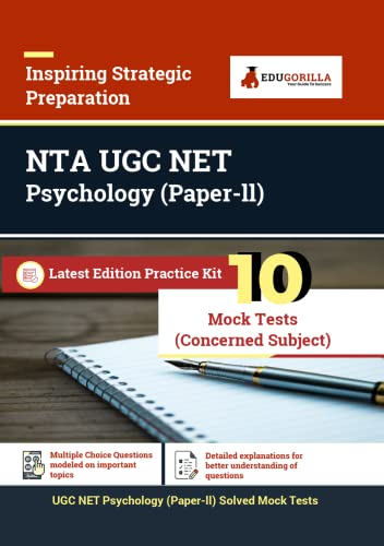UGC NET Psychology Exam (Paper II) | National Eligibility Test | 10 Full-length Mock Tests (SOLVED) | Latest Pattern Kit (Concerned Subject Test)