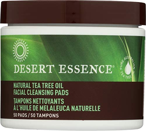 Desert Essence Facial Cleansing Pads Tea Tree Oil 50 Pads 0 75 Bottle product image