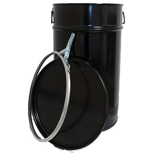 60 Liter Hobbock/Deckelfass Fass Garagenfass Ölfass NEU Schwarz