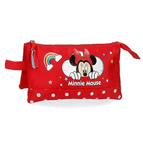 Minnie Rainbow Etui met drie vakken