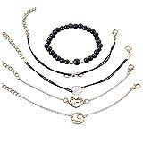 Set de 5 pulseras con el símbolo del infinito