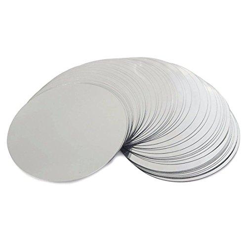 ACAMPTAR 50 Pz 3 Pollici A Prova di Gocciolamento Argento Vino Pourer Disk Goccia A Goccia Arresto Versando Beccuccio
