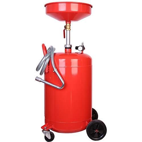 Trad4U Ölablassgerät Ölauffanggerät Ölauffangwanne Ölauffangwagen Altölgerät 80 Liter