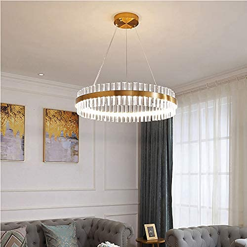 BABYCOW Araña de Cristal de Cristal Colgante de Techo LED Moderno Tricolor Hierro galvanizado Lámparas de Techo Lámpara Decorativa de luz Colgante para la Sala de Estar Villa Hall, un triángulo, 80c