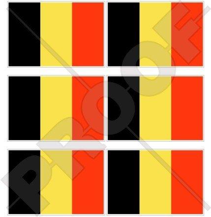 Belgique Belge Drapeau 40 mm (40,6 cm) Téléphone Mobile Mini en vinyle autocollants, Stickers x6