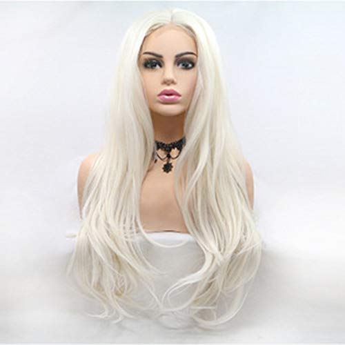 L.W.S Wigs Wigs European And American Chemical Fiber Front Lace Long Curly White Lady Wig Adds Charm And Beauty Wigs