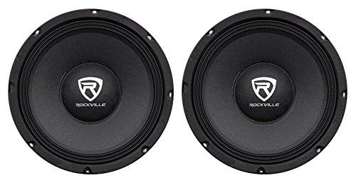 "2 Rockville RM104PRO 10"" 1200 Watt 4-Ohm SPL Car Midrange Mid-Bass Pro Speakers"