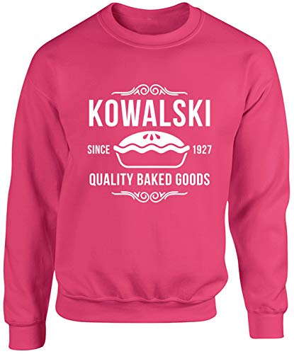 Hippowarehouse Kowalski Fantastic Quality Baked Goods Unisex Jumper Sweatshirt Pullover (Specific Size Guide in Description) Fuchsia Pink