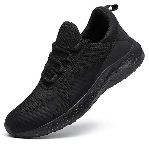 DAFENP Baskets Running Chaussures Homme Femme Course Outdoor Sport Sneakers Trail Gym entraînement Fitness Respirantes XZ275-allblack-EU38