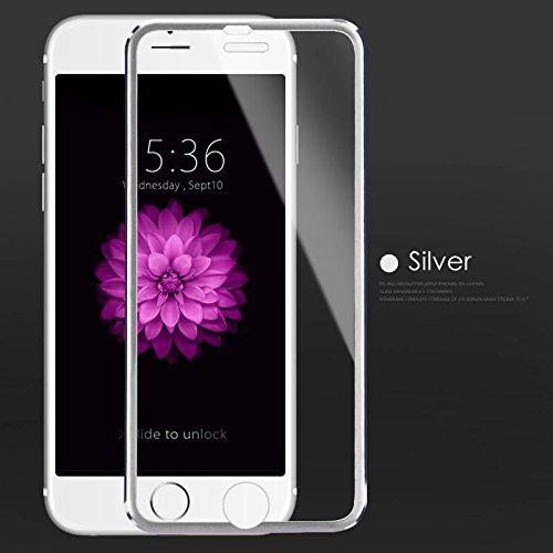 Cristal protector 3D para iPhone 5, cristal templado, color plateado