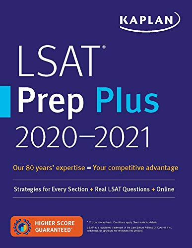 LSAT Prep Plus 2020-2021: Strategies for Every Section + Real LSAT Questions + Online (Kaplan Test P