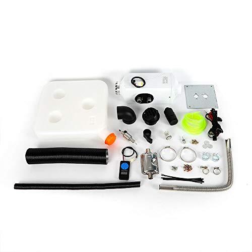 Berkalash Calefacción de aire de estacionamiento diésel de 12 V, con mando a distancia, para autocaravana, coche, camión, coche, color blanco
