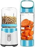 Fulinmen Portátil Blender Blender Doble Taza Mini Juice Taza Máquina de Cocina Multifuncional Hogar Ecuador eléctrico 6 Hoja Sawtooth 500 ml (Color: Rosa) (Color : Blue)
