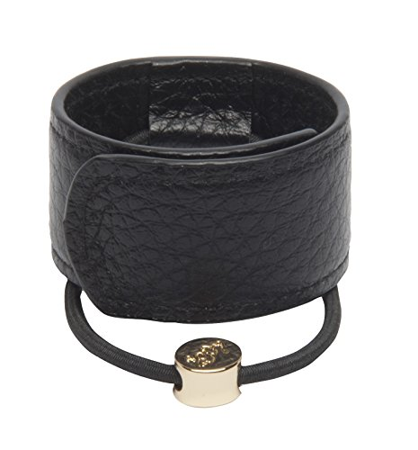 1907 Leather Hair Cuff, Black NHH060